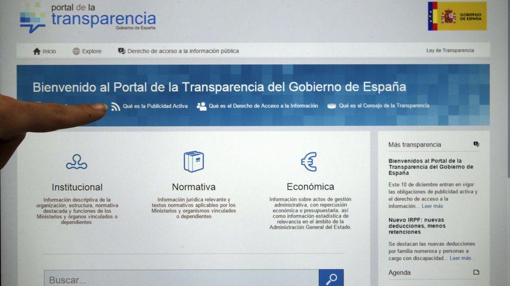 Foto: Imagen de la presentación del Portal de la Transparencia en diciembre de 2014. (EFE)