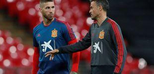 Post de El repentino amor de Luis Enrique por Sergio Ramos en la Selección