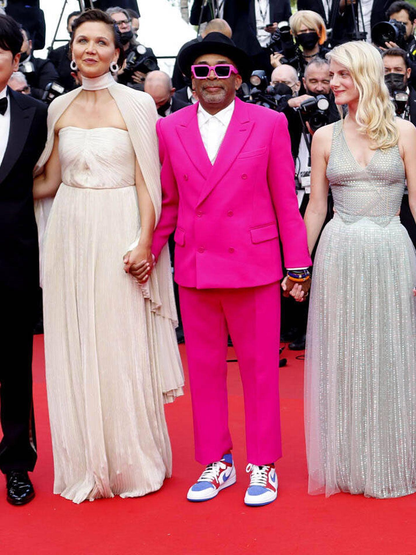 Spike Lee, Melanie Laurent y Maggie Gyllenhaal. (Reuters)