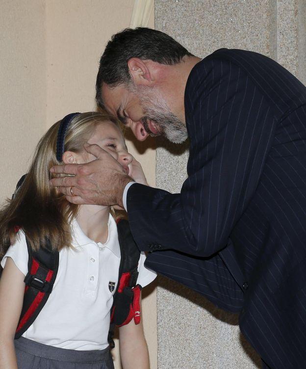 Foto: El Rey Felipe VI junto a su hija, la princesa de Asturias (Efe)