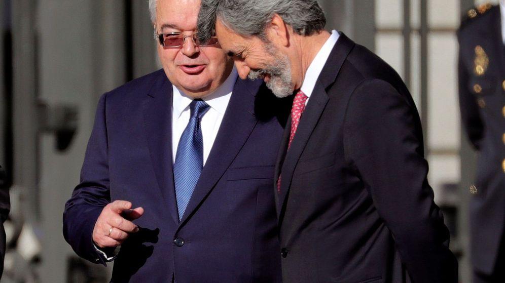 Foto: Los presidentes del Supremo y del Tribunal Constitucional. (EFE)