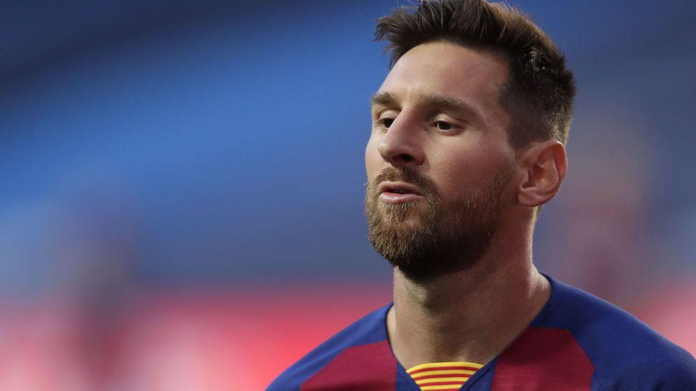 Foto: Messi, durante el partido de cuartos contra el Bayern de Múnich. (Efe)