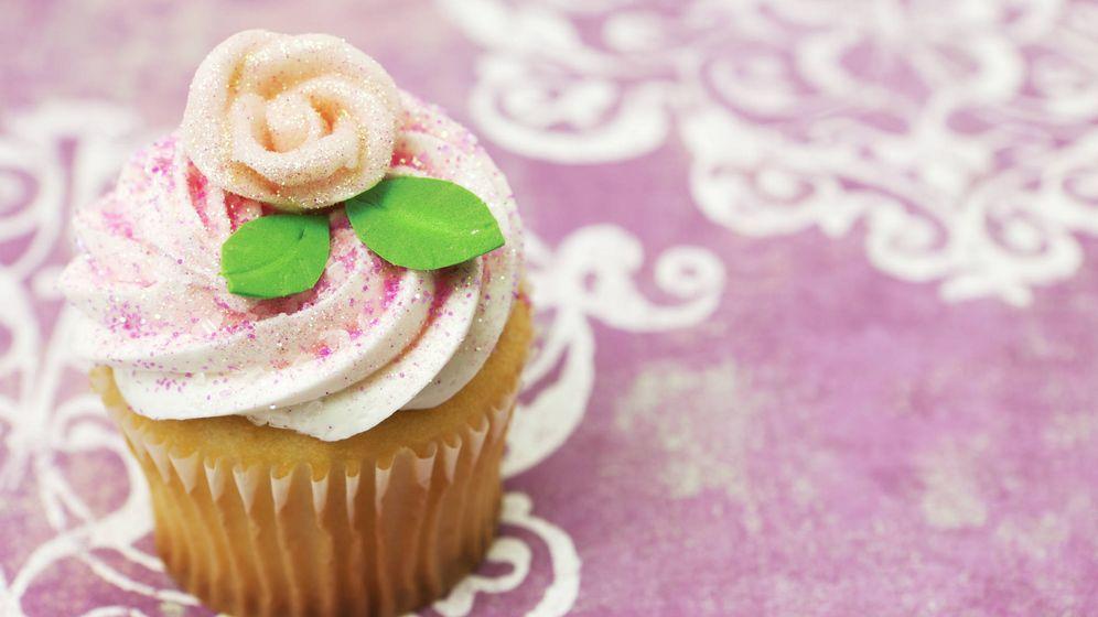 Foto: Cupcake con brillantina. (iStock)