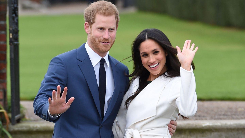 Los novios el día de su compromiso oficial. (Reuters)