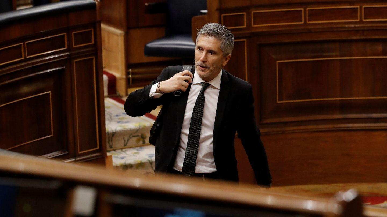 El ministro del Interior, Fernando Grande-Marlaska, en el Congreso de los Diputados. (EFE)
