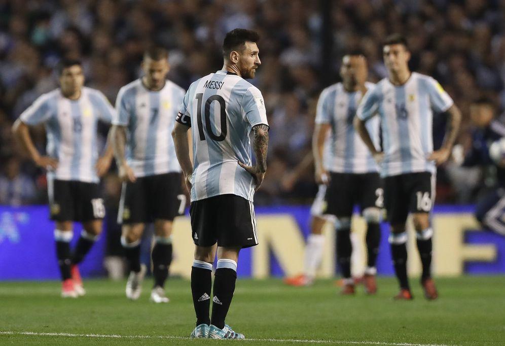 Foto: Messi no fue esta vez la solución para Argentina. (EFE)