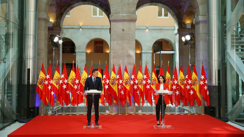 Pedro Sánchez e Isabel Díaz Ayuso, el pasado mes de septiembre. (EFE)