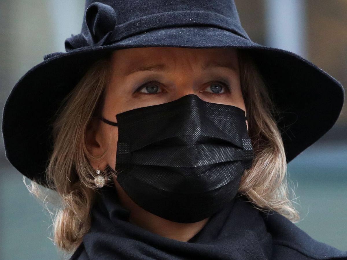 Foto: La reina Matilde, este lunes en el homenaje a las víctimas. (Reuters)