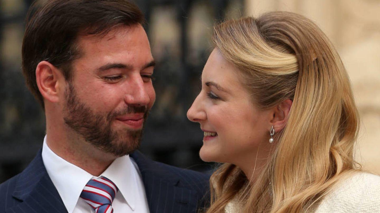 Guillermo y Stéphanie de Luxemburgo. (Getty)