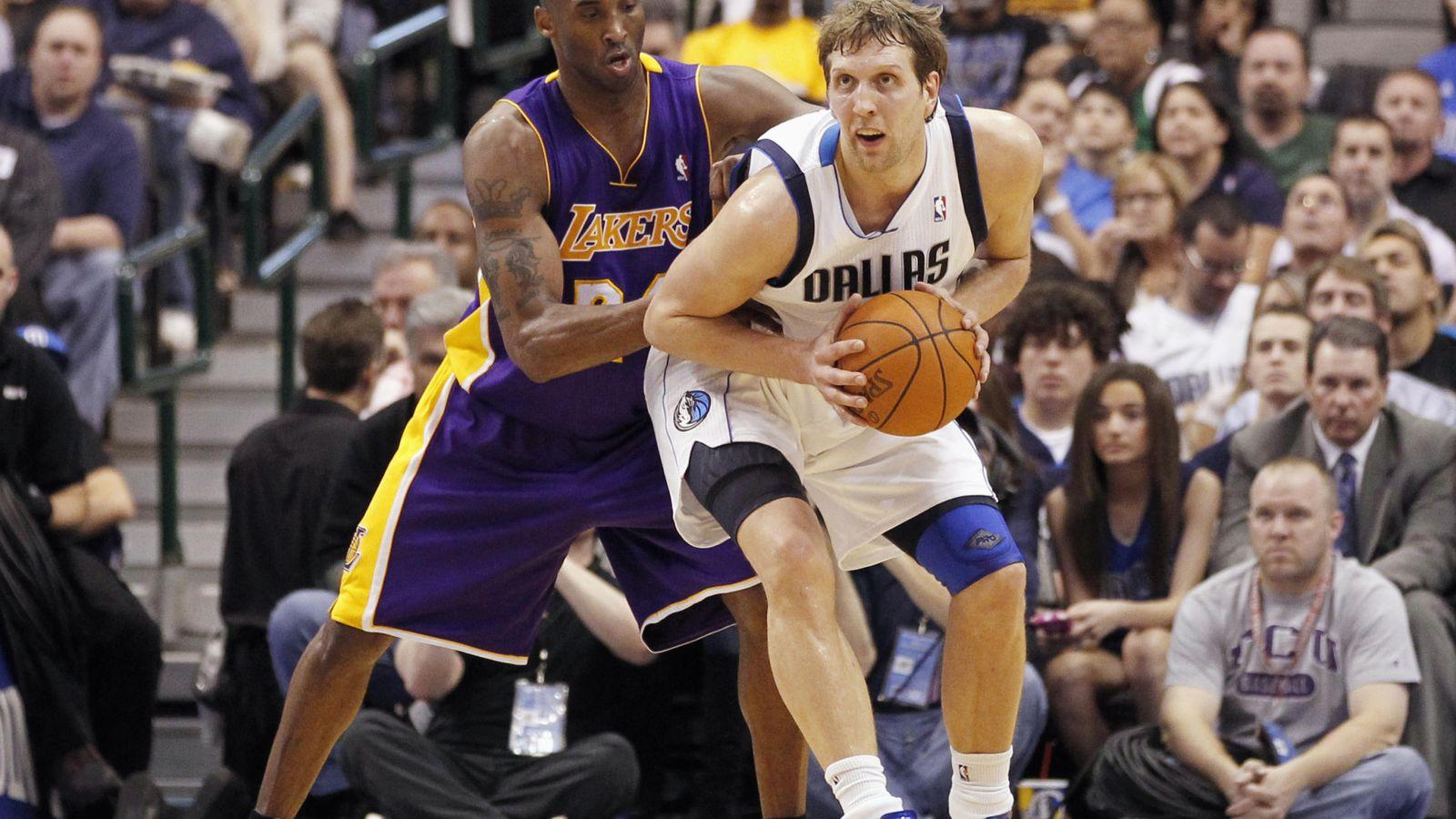 Foto: Bryant llegó a la NBA en 1996 y Nowitzki, en 1998 (Mike Stone/Reuters)