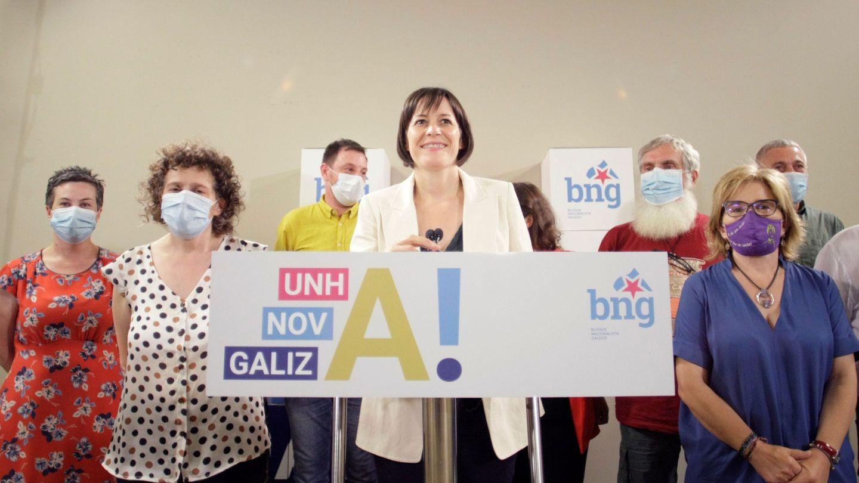 Ana Pontón, durante la campaña de las elecciones autonómicas gallegas. (EFE)