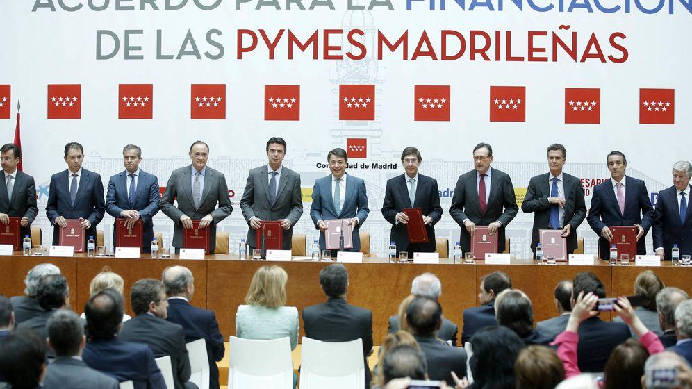 Foto: Un acto de financiación a empresas madrileñas en la Comunidad de Madrid en 2013.