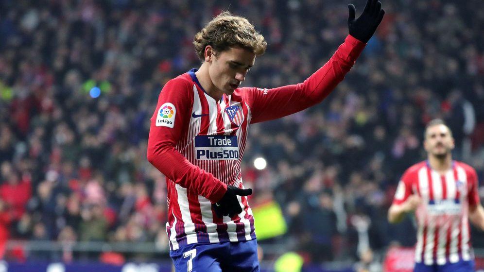 Foto: Antoine Griezmann celebra un gol con el Atlético de Madrid. (EFE)