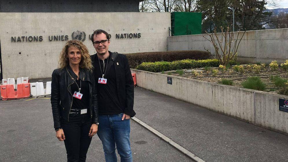 Foto: Roser Martínez y Joaquín Rodríguez han participado en un grupo de expertos de Naciones Unidas sobre los peligros de las armas autónomas (Universidad Autónoma de Barcelona)