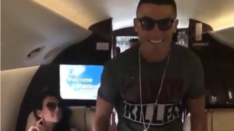 Foto: Clip del vídeo de Cristiano Ronaldo bailando ante Georgina. (Instagram)
