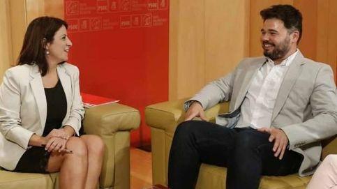 Lastra y Rufián cierran en secreto las condiciones de negociación de la investidura