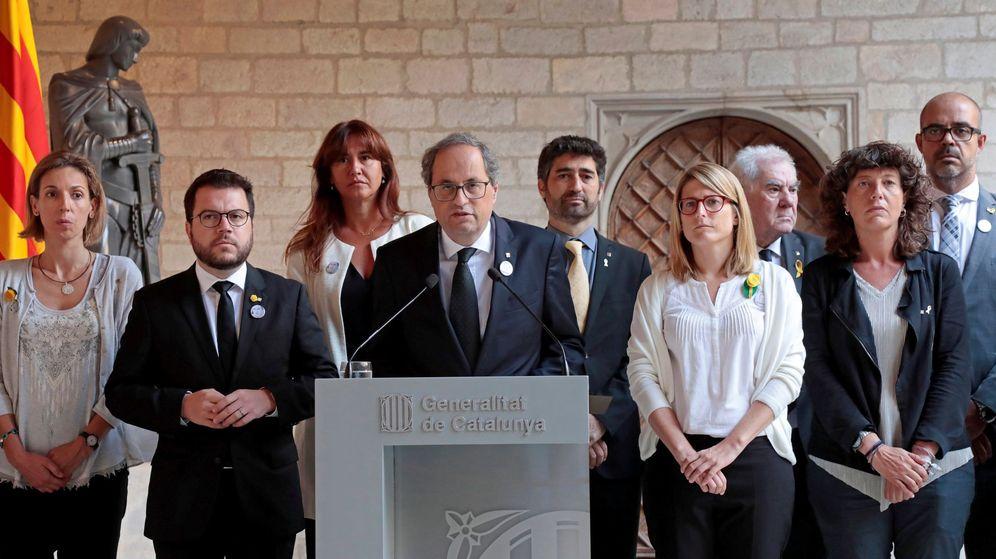 Foto: El presidente de la Generalitat, Quim Torra, durante su declaración institucional. (EFE)