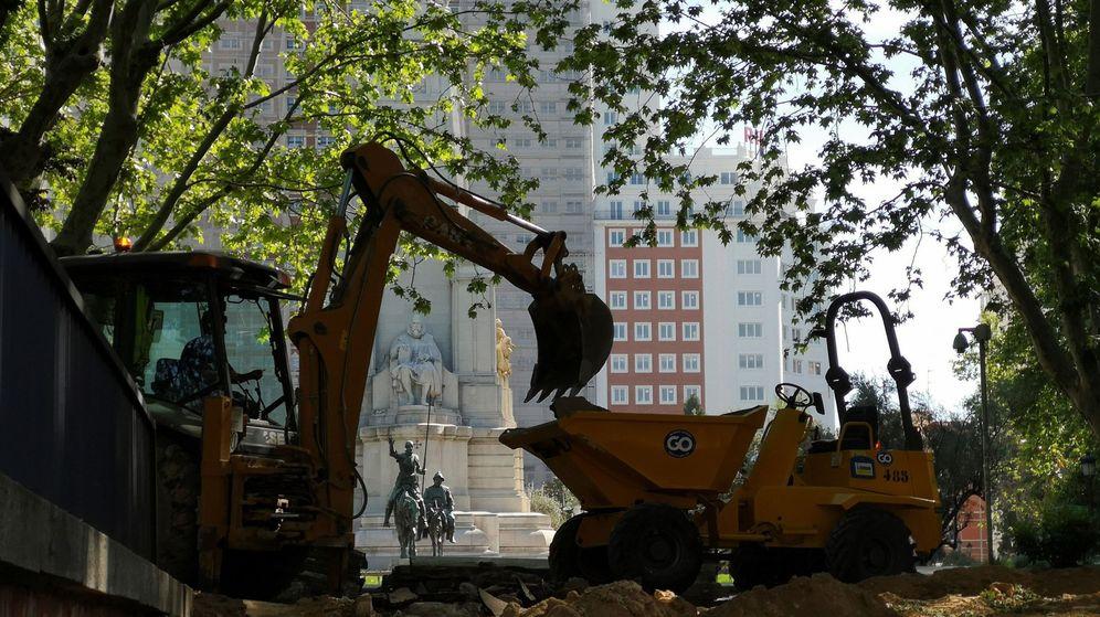 Foto: Obras para reformar la Plaza de España. (EFE)