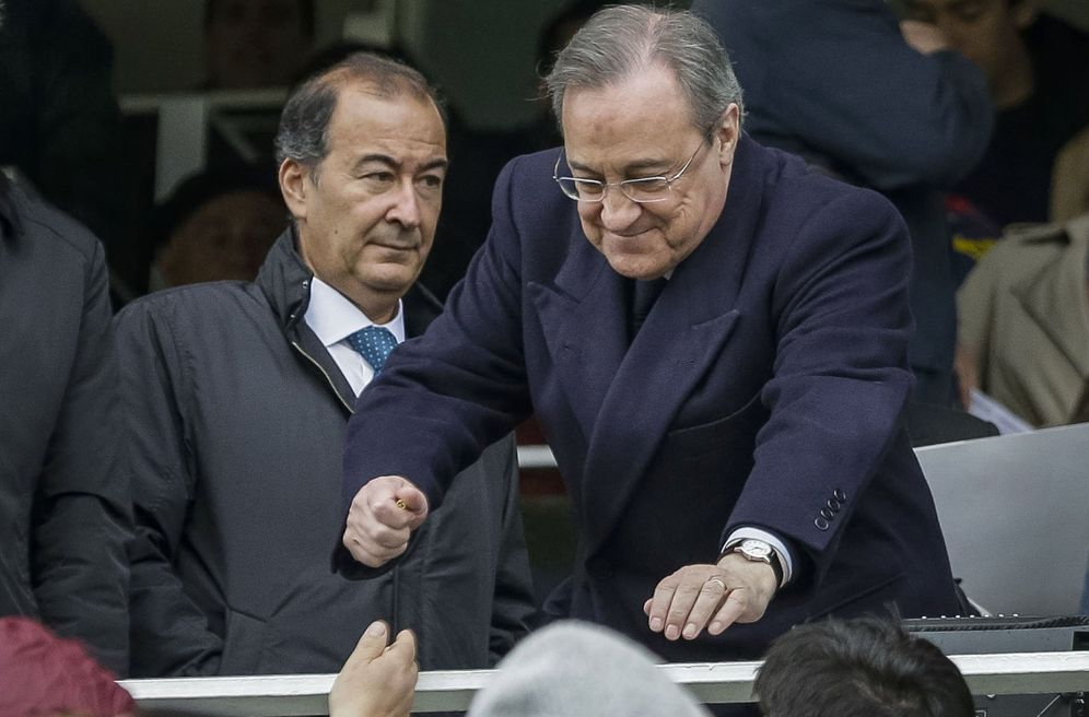 Foto: Florentino Pérez, junto a su inseparable vicepresidente, Eduardo Fernández de Blas. (EFE)