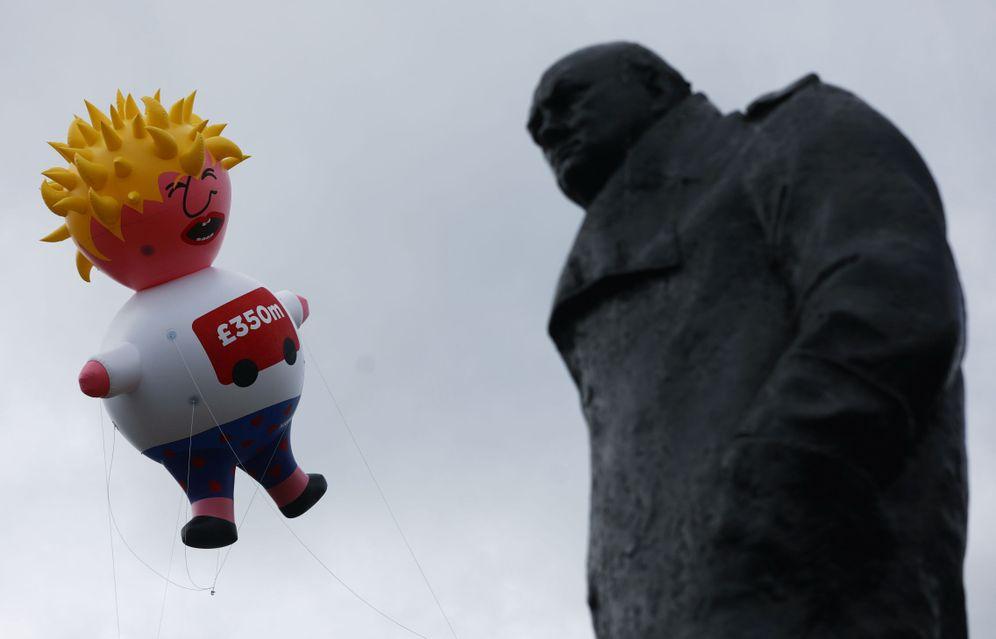 Foto: Boris contra Churchill, duelo de titanes. (Reuters)