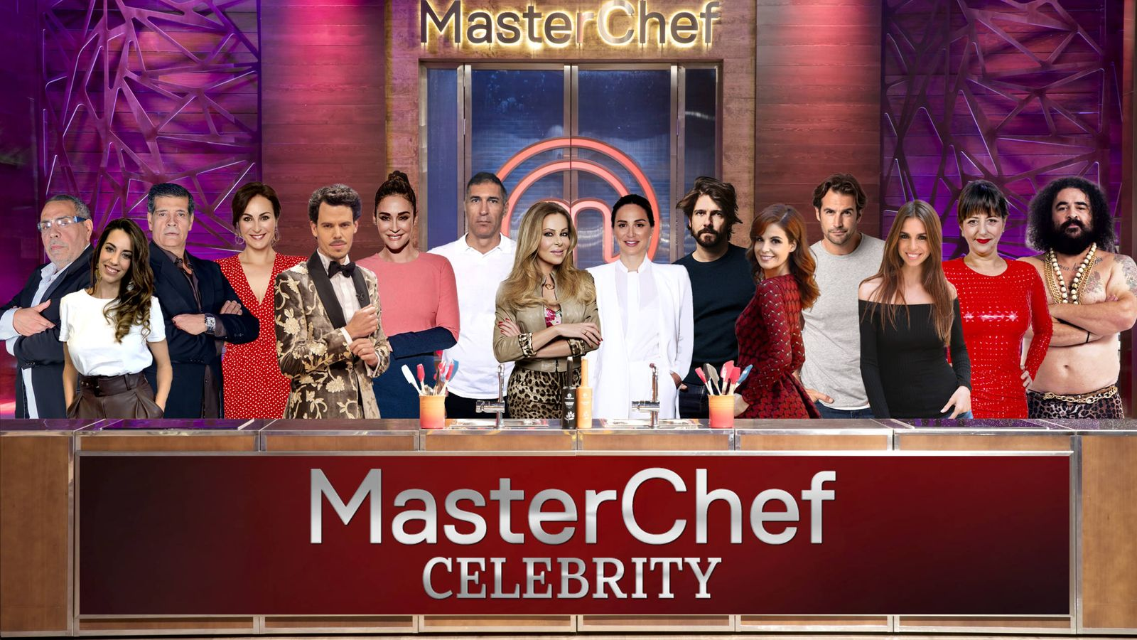 Foto: Concursantes de 'MasterChef Celebrity 4'. (RTVE)