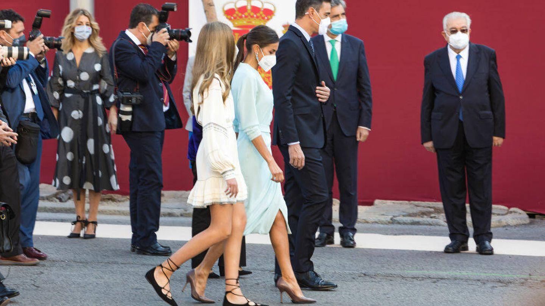 El presidente del Gobierno, junto a la Reina y la infanta Sofía. (Getty)