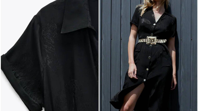 Vestido negro de Zara. (Cortesía)