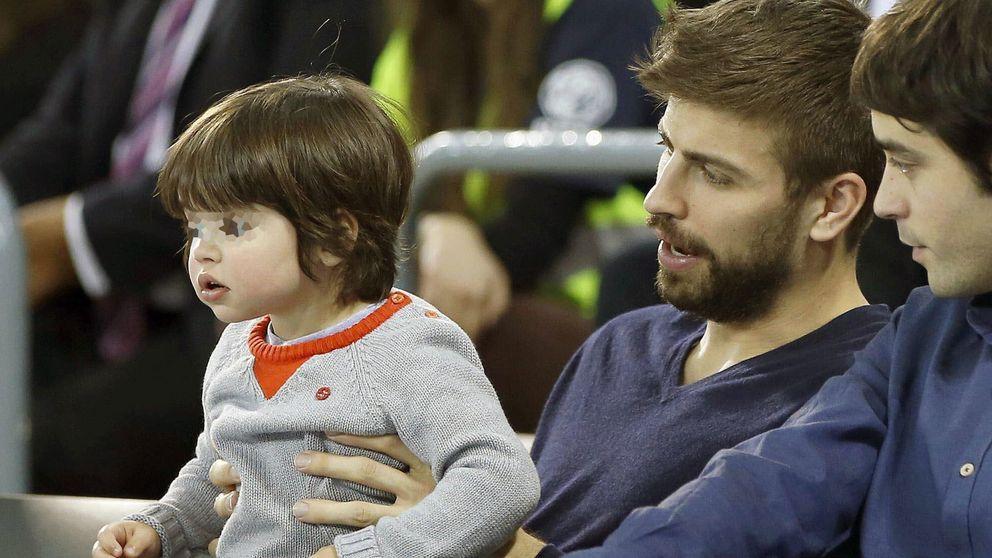 La tarde de baloncesto de Gerard Piqué y su hijo Milan
