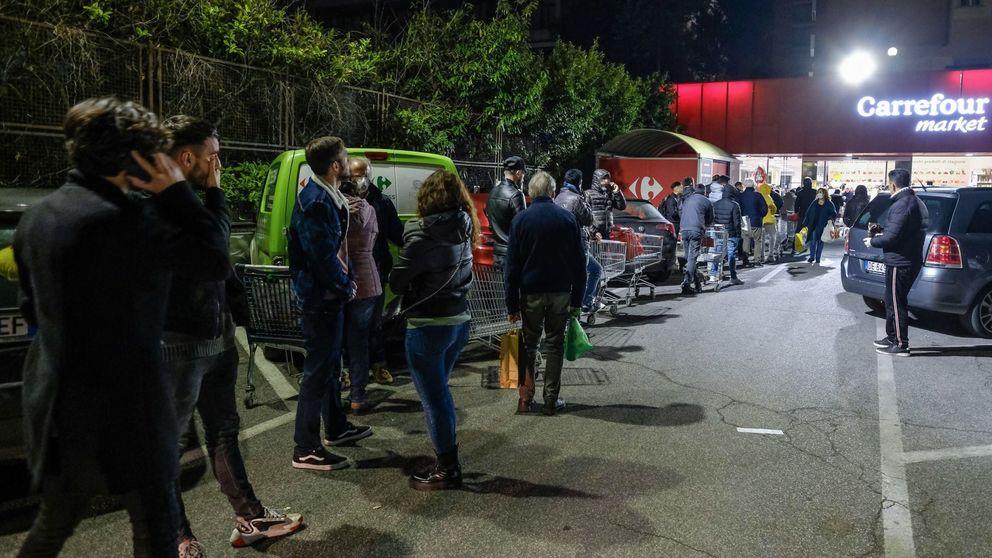 Compras por turnos y orden alfabético: Italia, cada vez más severa con el Covid-19