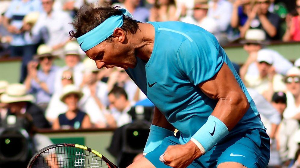 Foto: Rafa Nadal celebra un punto en semifinales de Roland Garros | EFE
