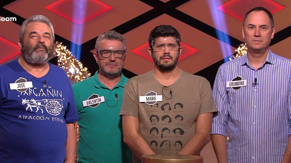 Foto: Jose, junto a sus compañeros Valentín, Manu y Erundino. (Atresmedia)