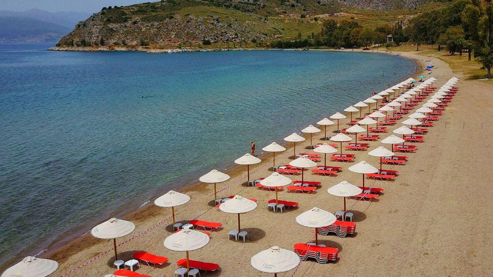 Foto: Las playas se reabren en Atenas con las medidas de seguridad. (EFE)