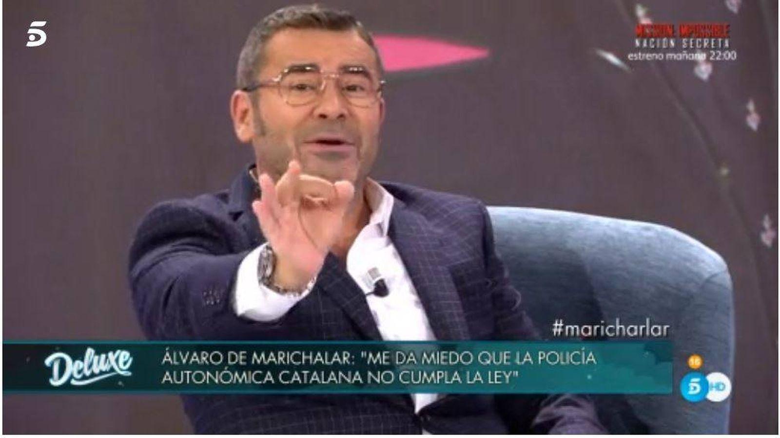 Foto: Jorge Javier expulsa a Ávaro de Marichalar del 'Deluxe'
