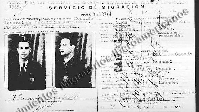 Ficha de Florencio Castelló en el Registro Nacional de Extranjeros en México.