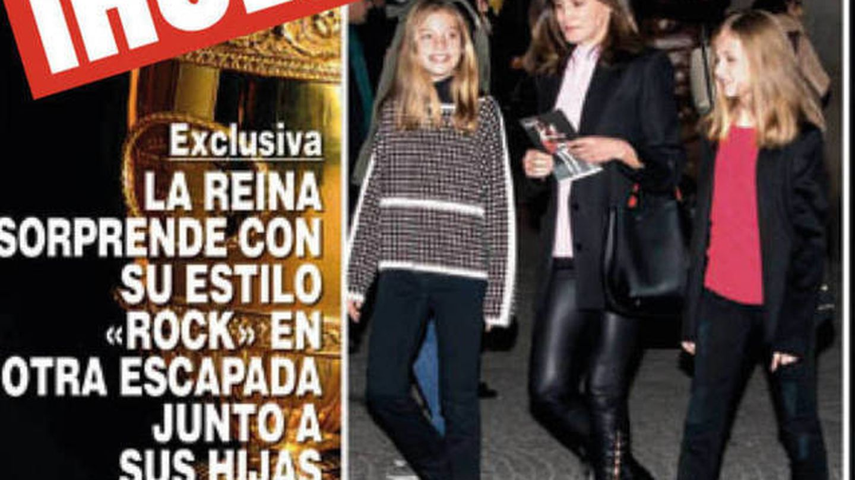 La infanta Sofía, con el jersey de su madre. (¡Hola!)