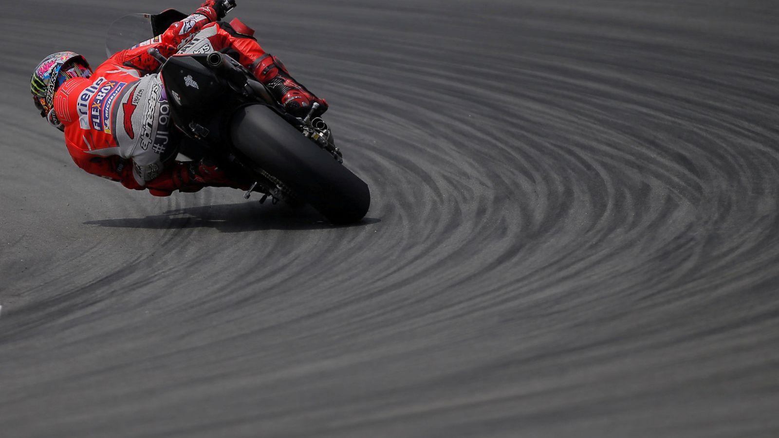 Foto: Jorge Lorenzo durante el GP de Catalunya. (Reuters)