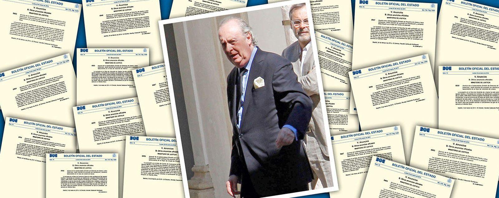 Foto: El duque de Segorbe, Ignacio Medina, ha solicitado 20 títulos nobiliarios (Montaje: Vanitatis)