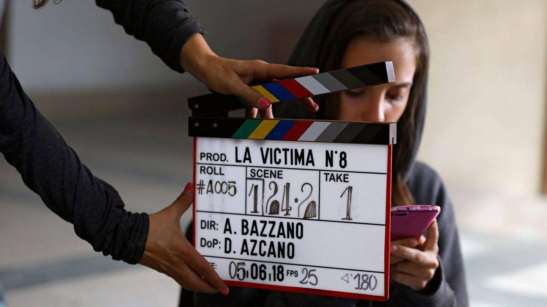 Rodaje de 'La víctima número 8'. (Telemadrid)