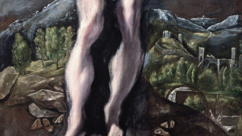 Las piernas de 'san sebastián' (1610), que se conservan separadas del resto del cuerpo.