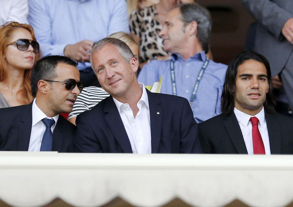Foto: Jorge Mendes (izq.) durante un partido del Mónaco de la temporada pasada (Reuters)