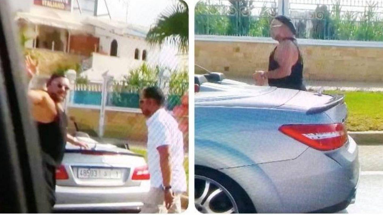 Dos imágenes de Mohamed VI tomadas el último fin de semana de junio en la costa de Tetuán.