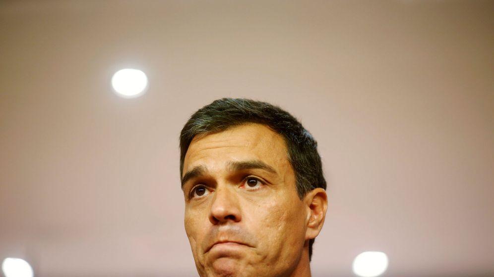 Foto: El líder socialista Pedro Sánchez en una rueda de prensa. (Reuters)