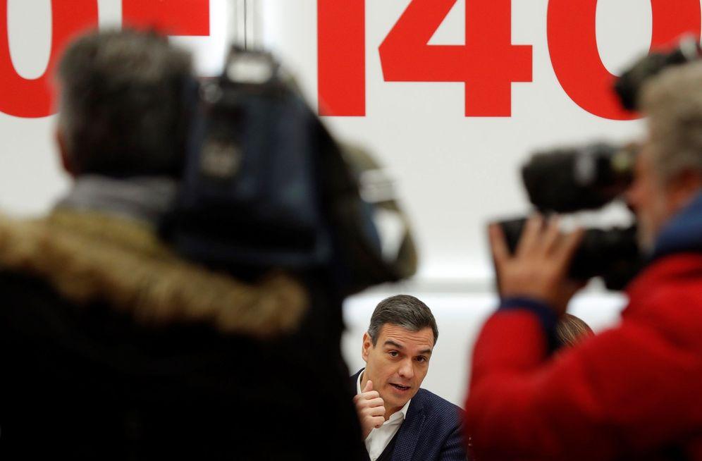 Foto: Pedro Sánchez, este 11 de noviembre en la reunión de la ejecutiva del PSOE, en Ferraz. (EFE)
