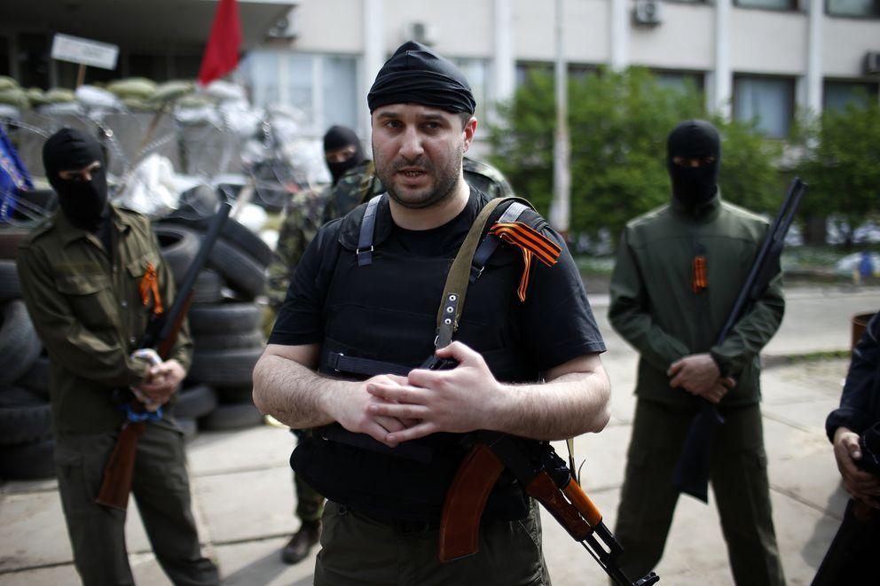 Denis Kuzmenko, 'comandante' de las fuerzas prorrusas en Mariupol (Reuters).