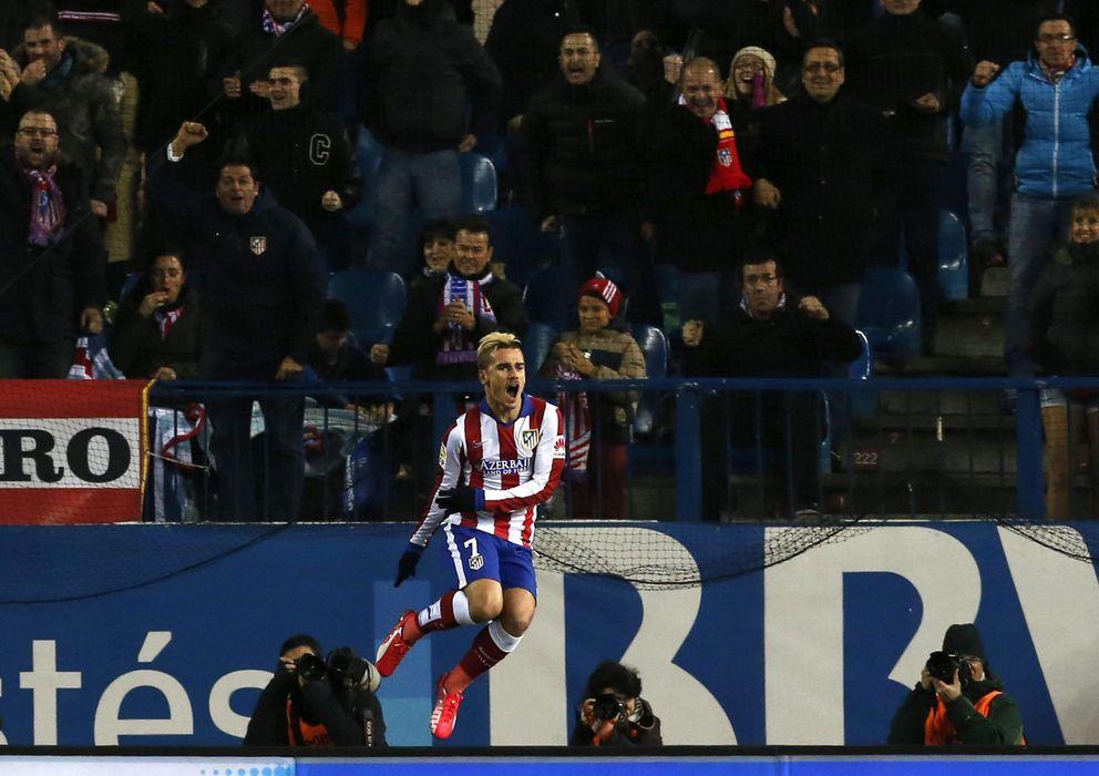 Foto: Griezmann celebra uno de sus goles al Rayo (EFE).