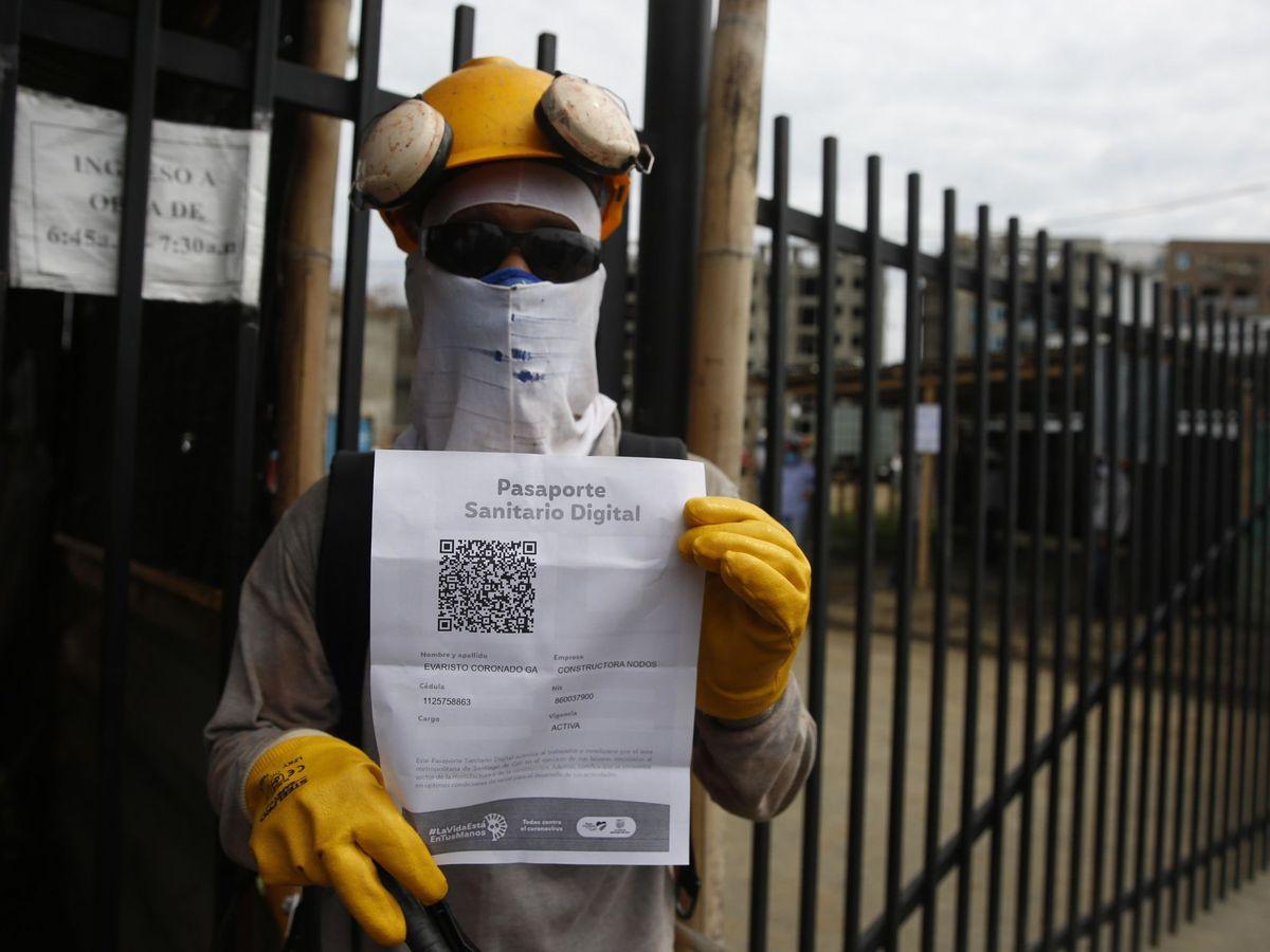 Foto: Pasaporte sanitario digital. (EFE)