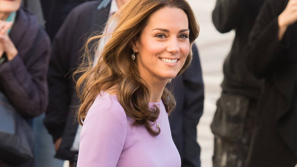 Foto: La duquesa de Cambridge a su llegada al acto. (Getty)