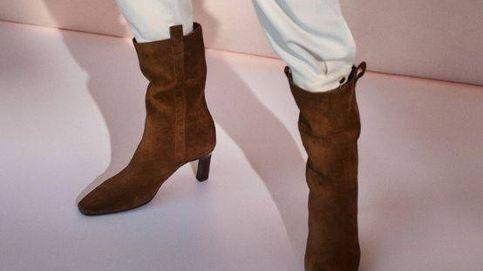 Estos botines de tacón sensato de Massimo Dutti son cómodos y puro estilo para el día a día