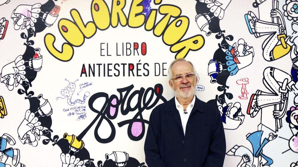 Foto: Antonio Fraguas Forges presentando Coloréitor en 2014. (EFE)