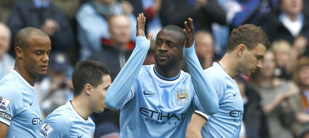 Foto: Yaya Touré celebra un gol marcado esta temporada
